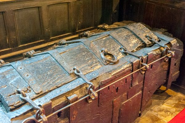 Lower Peover, St Oswald's Church photo, The 13th century oak chest