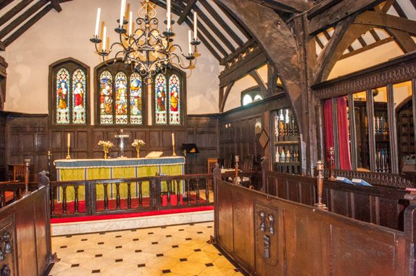 Lower Peover, St Oswald's Church photo, Ornate Jacobean woodwork in the chancel