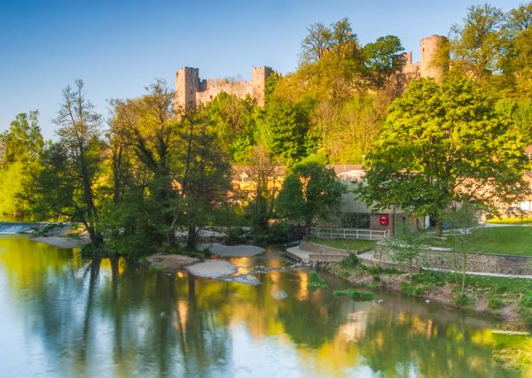 Ludlow Castle photo, The castle from the River Teme