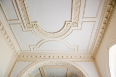 1723 moulded plaster ceiling in the nave