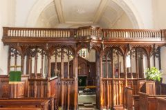 Rood screen in St Botolph's church