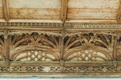 Detail of the 15th century cornice