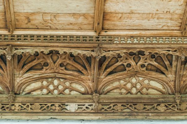 Lyddington Bede House photo, Detail of the 15th century cornice