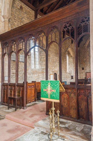Lyddington, St Andrew Church photo, The 15th century chancel screen