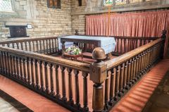 The unusual 'detatched' communion rails