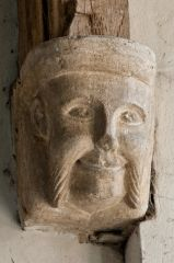 Lyddington, St Andrew Church, Medieval carved corbel head