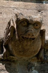 Lydiard Tregoze, St Mary's Church, Gargoyle carving