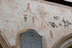 Lydiard Tregoze, St Mary's Church, Nave wall painting