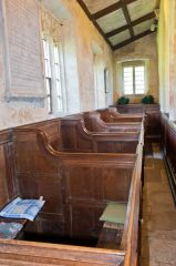 Lydiard Tregoze, St Mary's Church, Box pews, north aisle