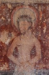 Lydiard Tregoze, St Mary's Church, 14th century wall painting
