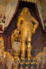 Lydiard Tregoze, St Mary's Church, Golden Cavalier statue