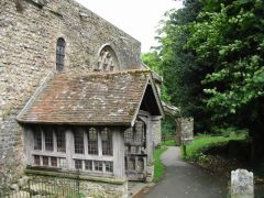 Lyminge church south porch (c) Nick Smith