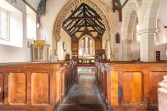 Maddington, St Mary's Church, Looking down the nave