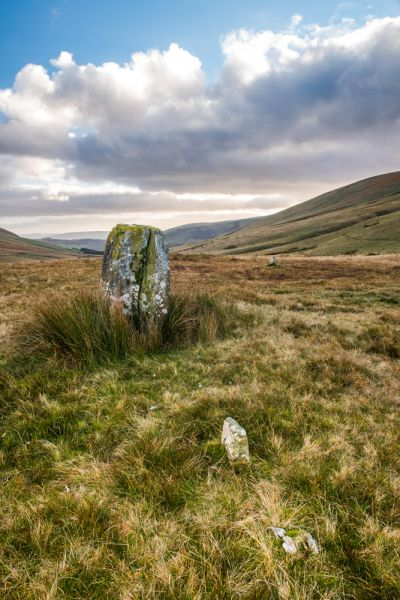 Cerrig Duon Stone Circle & Maen Mawr photo, The 2 small stones west of Maen Mawr