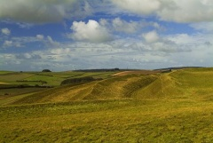 Maiden Castle, earthwork banks