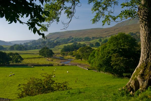 Mallerstang Dale photo, View from Pendragon Castle