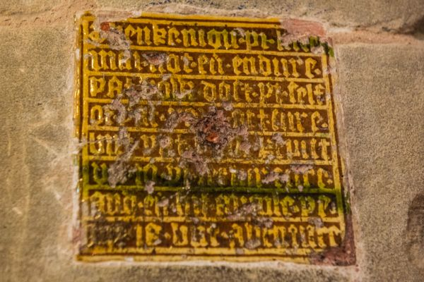 Great Malvern Priory Church photo, The 'Friends Tile'