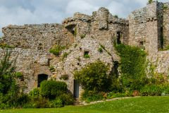 Manorbier Castle, Another view of the inner ward