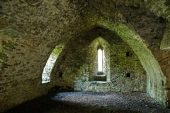 Manorbier Castle, Inside the crypt