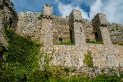 Manorbier Castle, The curtain wall from the inner ward