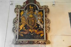 Manorbier, St James Church, William IV royal coat of arms