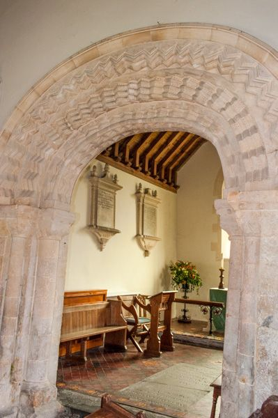 Marden, All Saints Church photo, The Norman chancel arch