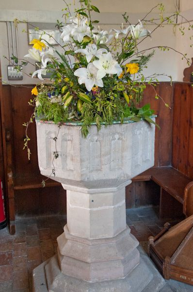 Marlesford, St Andrew's Church photo, 15th century font