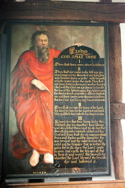 Marton, St James and St Paul's Church photo, 18th century Moses painting