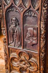 16th century bench end