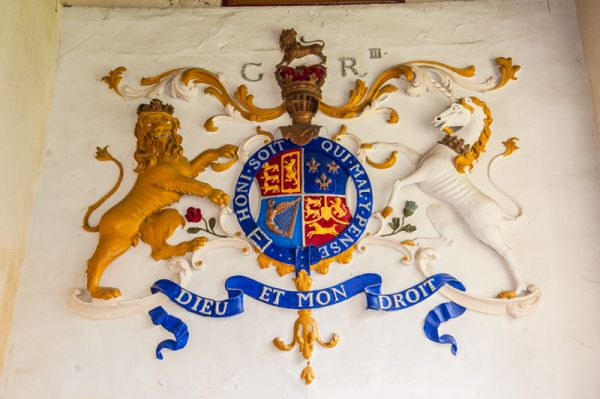 Marwood, St Michael's Church photo, George III coat of arms, 1763