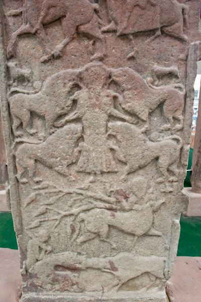 Meigle Sculptured Stone Museum photo, The rear face of the Vanora Stone (Meigle 2)