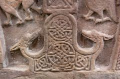 Pictish beasts and interlace patterns on Meigle 5