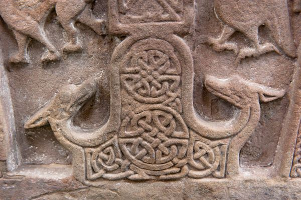 Meigle Sculptured Stone Museum photo, Pictish beasts and interlace patterns on Meigle 5