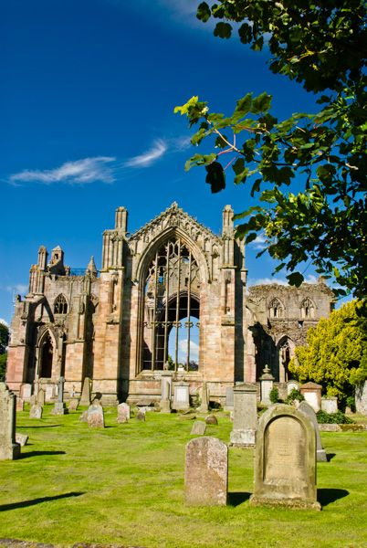 Melrose Abbey photo, East end of the abbey church