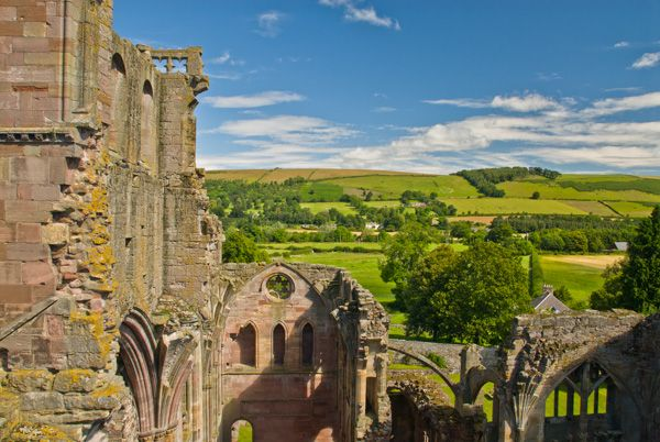Melrose Abbey photo, The view from the church tower