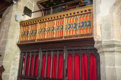 15th century screen supporting the organ loft