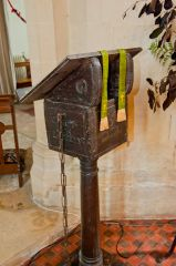 17th century lectern and chain