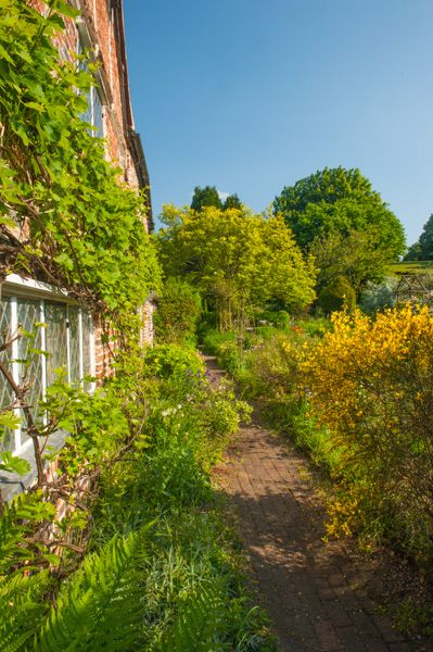 John Milton's Cottage photo, The garden path beside the cottage