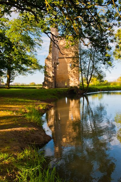 Minster Lovell Hall and Dovecote photo, The west tower and River Windrush