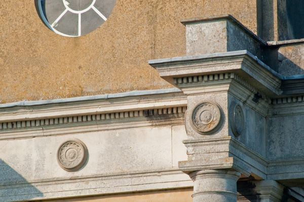 Mistley Towers photo, Cornice detail