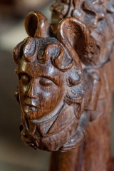 Bench end carving in the chancel
