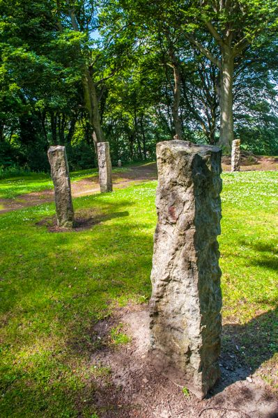Mold Castle photo, Standing stones in the Gorsedd Circle