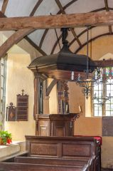 Three-decker pulpit, north aisle