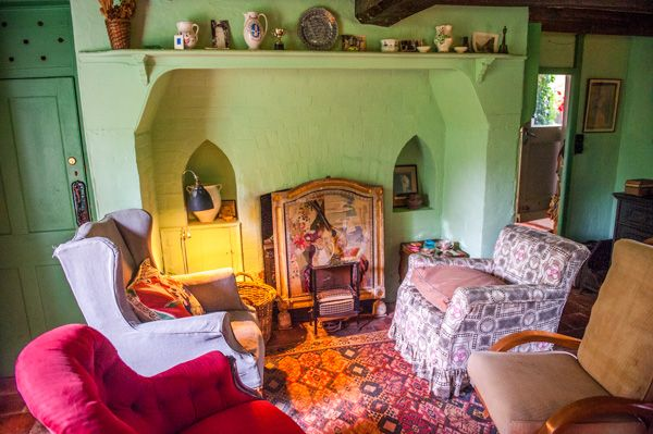 Monk's House photo, The sitting room hearth
