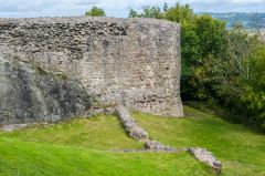 Montgomery Castle, The outer wall of the castle
