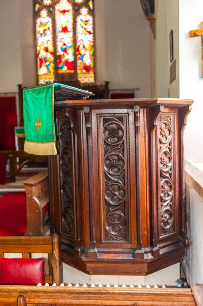Morebath, St George's Church photo, The 1874 pulpit