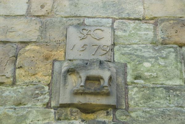 Moreton Corbet Castle photo, Elephant carving