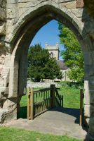 Moreton Corbet Castle, View to Moreton Corbet church
