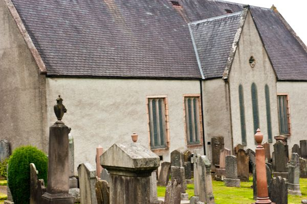 Mortlach Kirk photo, View from the churchyard