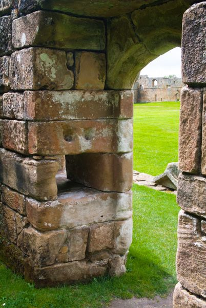 Mount Grace Priory photo, Monk's cell doorway and food hole
